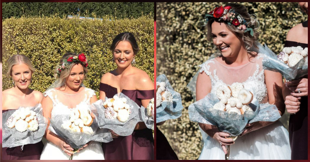 This Bride Surprised Her Bridal Brigade With A *Doughnut* Bouquet & We Can't Even...