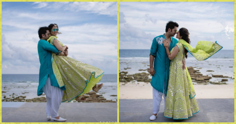This Couple's Beachside Pre-Wedding Shoot Looks Straight Out Of A Fairytale!