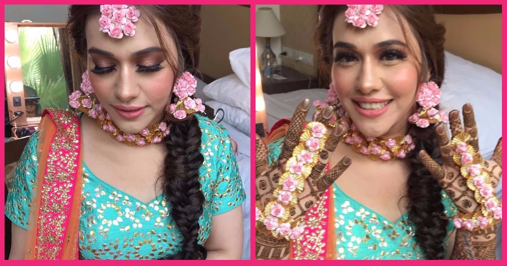 This Bride's Mehendi Make-Up Is Totally LIT & We Have All The Deets!