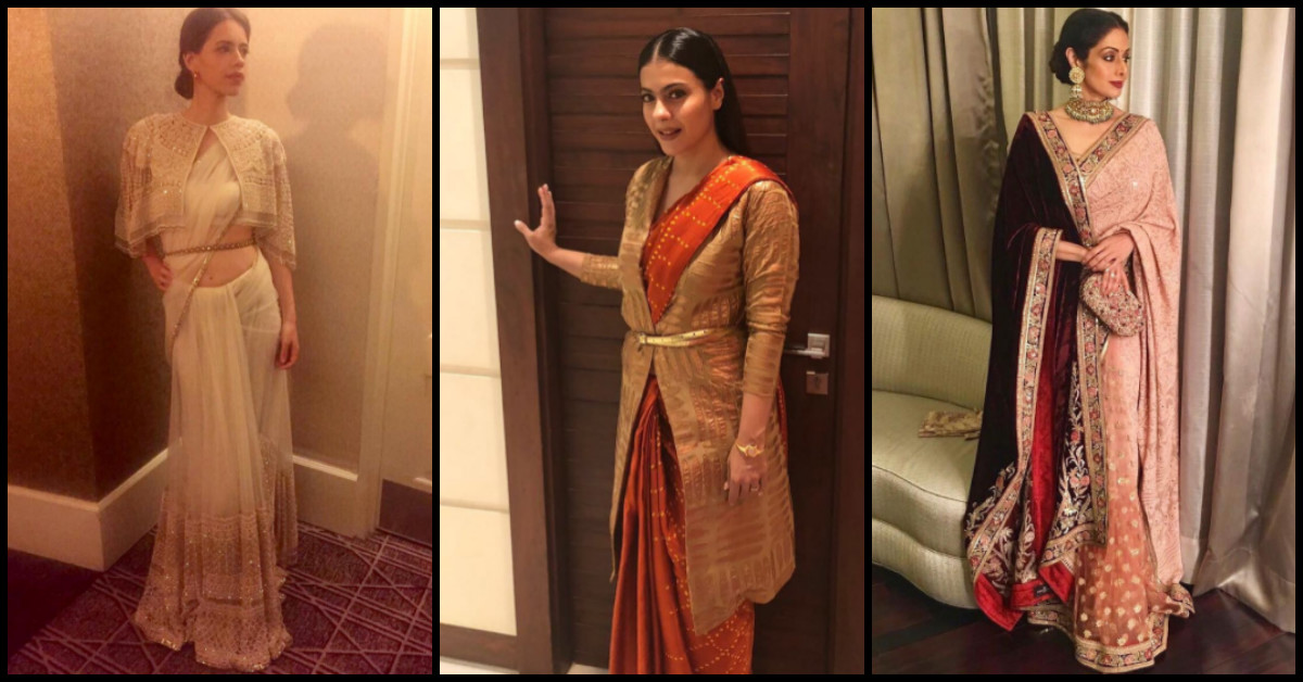 Bollywood Divas Redefine Saree Draping Ideas For Winters