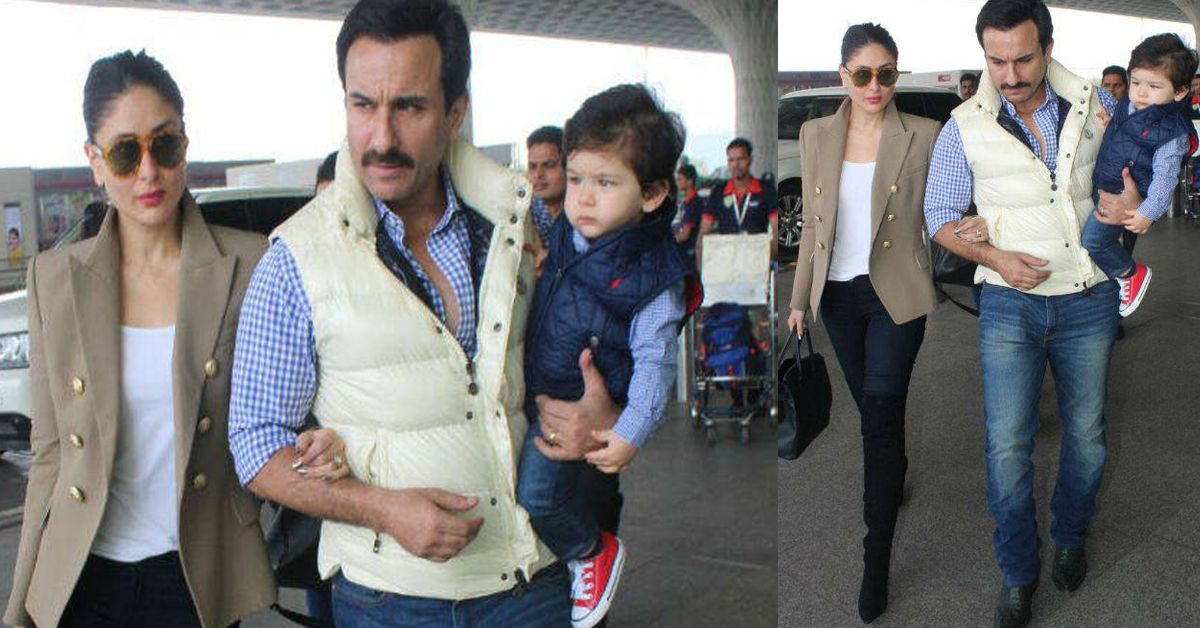 Kareena, Saif And Taimur Are Delhi-Bound For The Little Nawab's 1st Birthday. Here's The Scoop