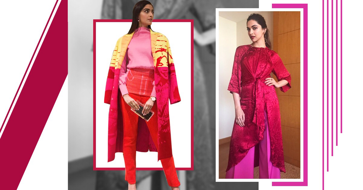 These Celebrities Show You How To Wear Red and Pink Together in 2018