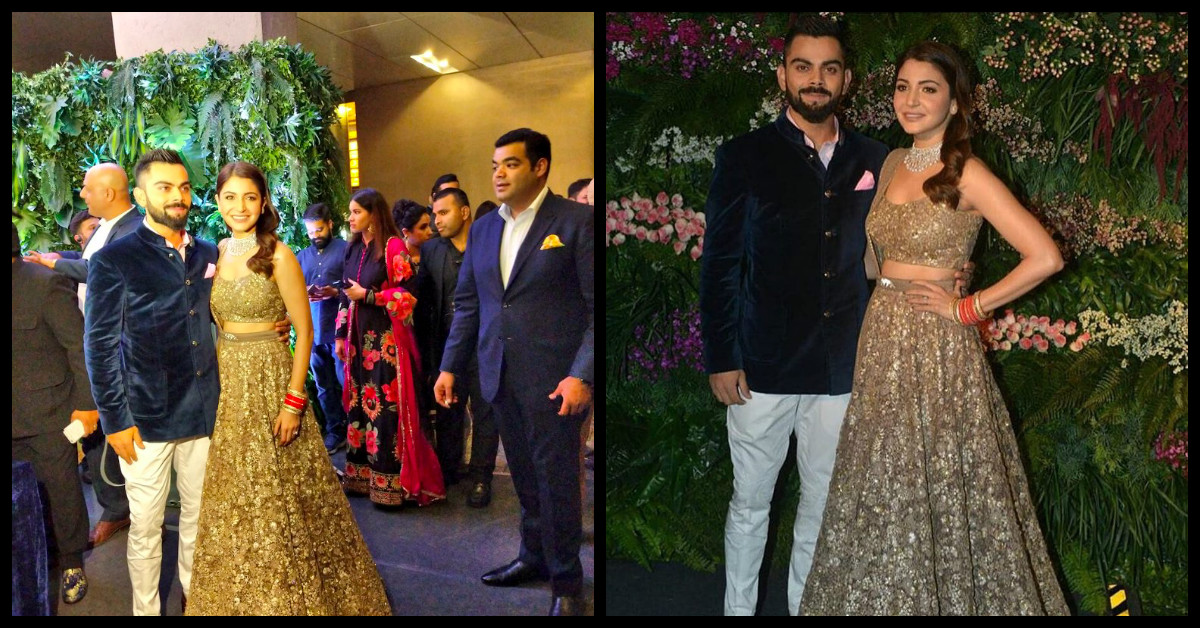 First Look Of Virat Kohli And Anushka Sharma At Their Mumbai Wedding Reception Is Out And They Look Amazing AF!