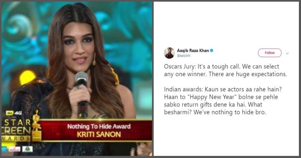 What Even Is The 'Nothing To Hide' Award That Kriti Sanon And Shahid Kapoor Just Won?