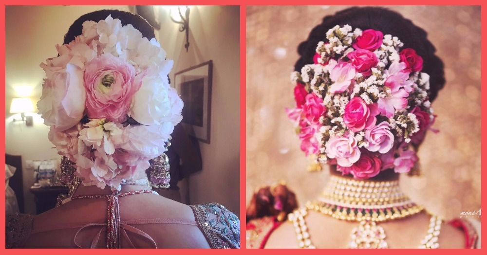 #JustLikeAnushka - 6 Brides Who Nailed The Floral Bouquet Hairdo!
