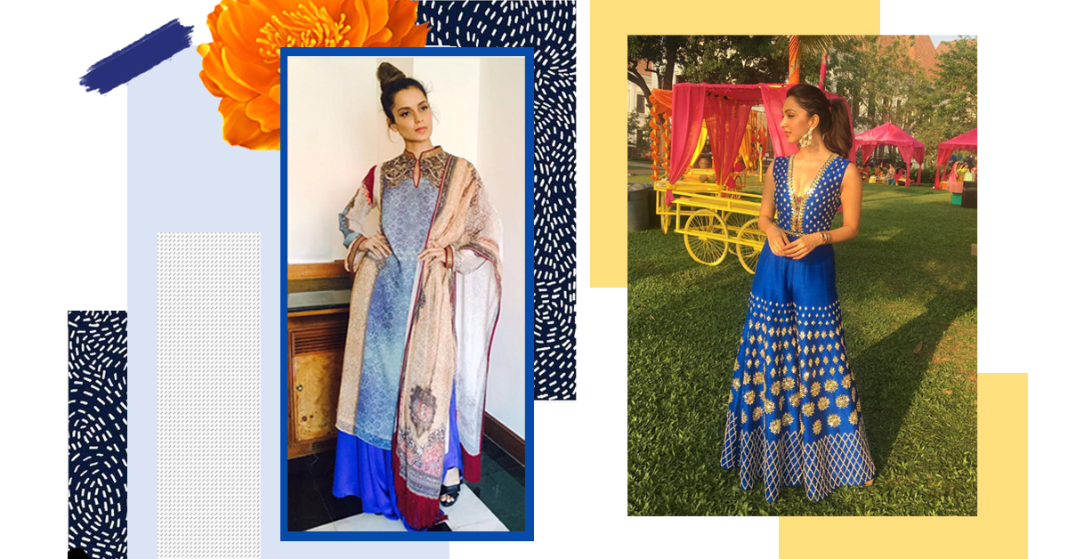 These Divas Show Us How To Tackle The Wedding Blues In Electrifying Blue