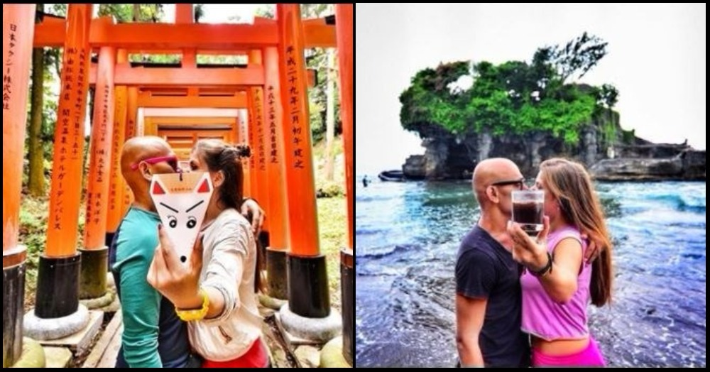 #KissIsIt: The Couple That Shares A Kiss In Every Country They Travel To!