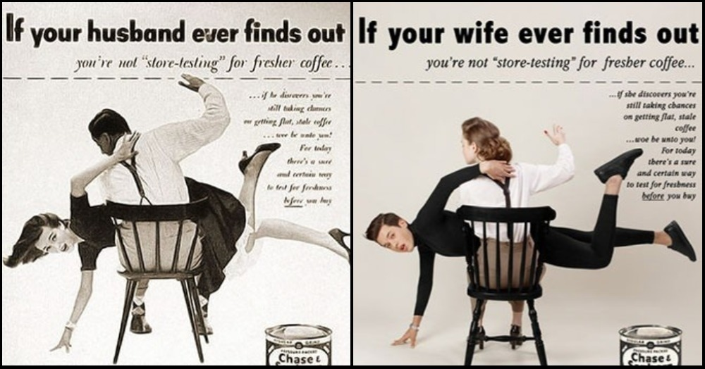 This Artist Switches Gender Roles In Vintage Ads To Expose Glaring Sexism
