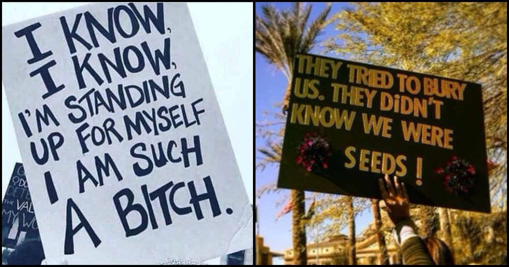 10 'Billboard Signs' At The Women's March We Want As T-Shirt Slogans