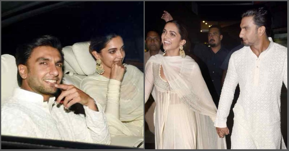Lovebirds Ranveer And Deepika Walked In Hand-In-Hand At The Padmaavat Screening