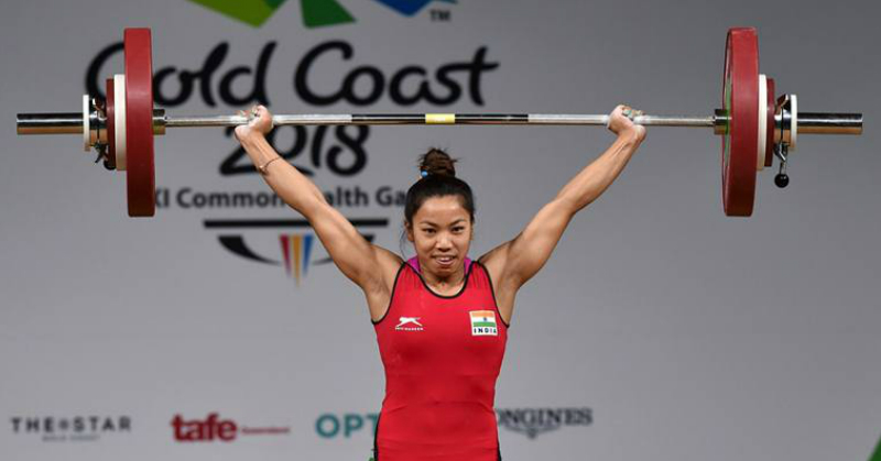 #SoProud: Manipuri Woman Mirabai Chanu Wins India's First Gold At CWG 2018!
