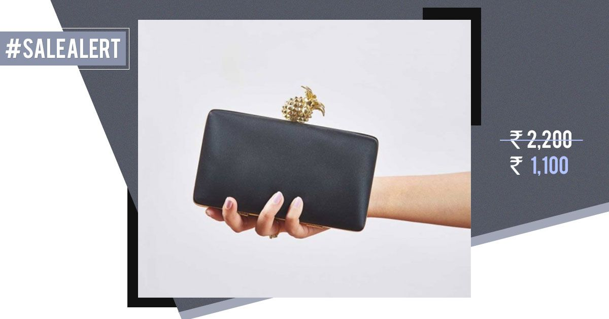 #PartyEssential: This Gorgeous Black Clutch Is At 50% Off Right Now!