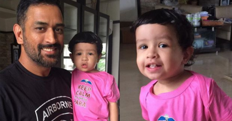 Ziva's Adorable Demand Of Hugging Daddy Dhoni During A Match Is Just. Too. Cute