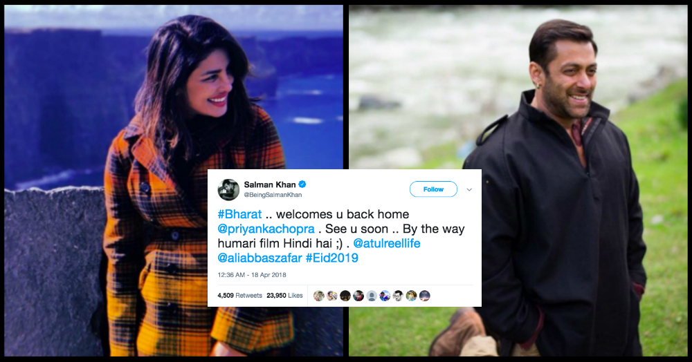 Priyanka Chopra's Cheeky 'Desi Girl' Reply To Salman Khan Proves That She Is Truly The Queen!