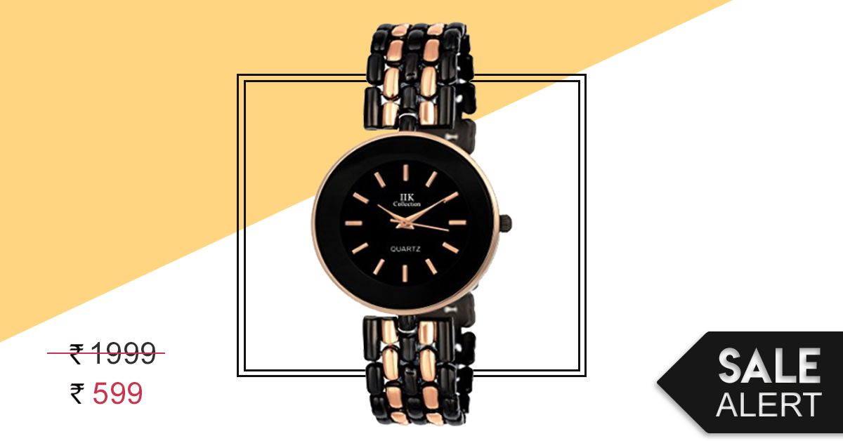 Sale Alert: This Black Analog Watch Is On Sale For An Unbelievable Price!