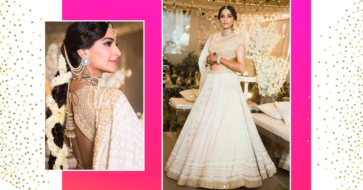 Here's The First Look Of Sonam From Her Sangeet & She Looks Stunning In White & Gold!