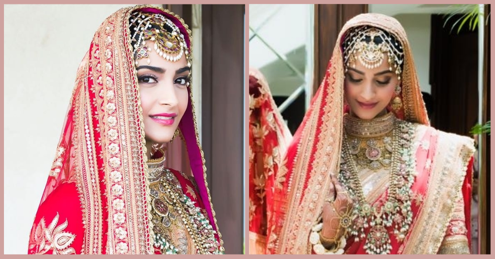 Sonam's First Bridal Pictures Are Out & She's Not Wearing AJSK Or Sabya!