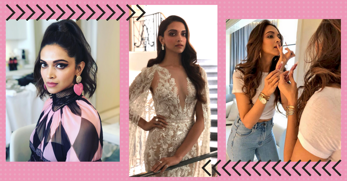 Deepika Padukone Takes A Walk On The Wild Side With A Naked Dress And Nude Lips!