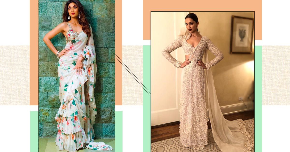 Ditch The Mandakini Tag & Wear White Sarees Like Your Favourite Bollywood Celeb!