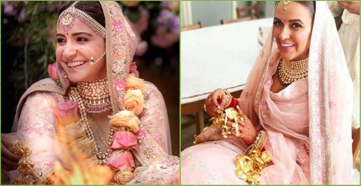 #PrettyInPink: 6 Celebrity Brides & Their All-Pink Looks To Inspire The Bride-To-Be