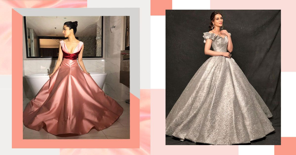 Bollywood Does Big, Poufy Ballroom Gowns That Look Right Out Of Cinderella's Closet!