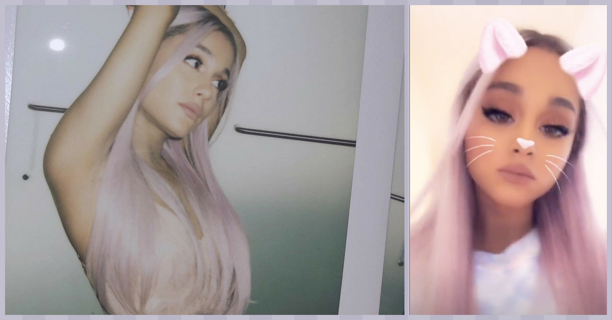 Ariana Grande's Post Engagement Hair Makeover Is a Pastel Waterfall!