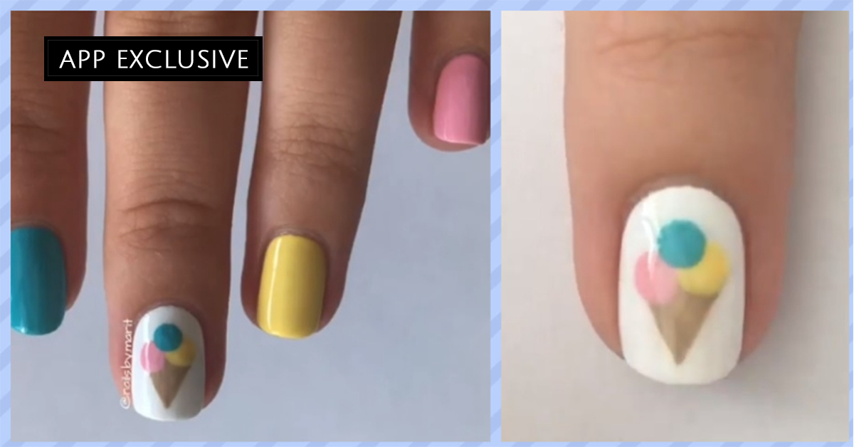 Instagram Find: SLURP: This Ice Cream Themed Nail Tutorial Is Yummy!