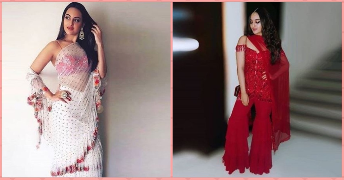 Sonakshi Sinha Looked *Stunning* In Red At Her Veere Di Wedding!