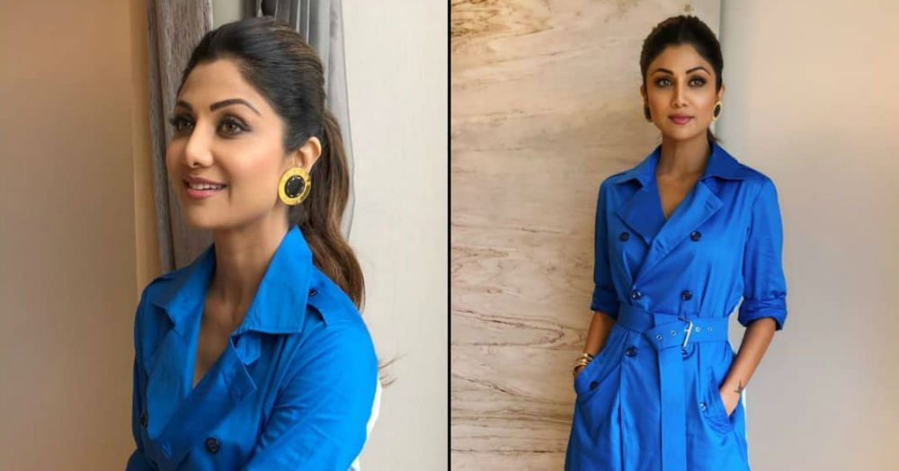 Shilpa Shetty Wore A Trench Coat In The Summer And TBH, Her Look *Blue* Us Away
