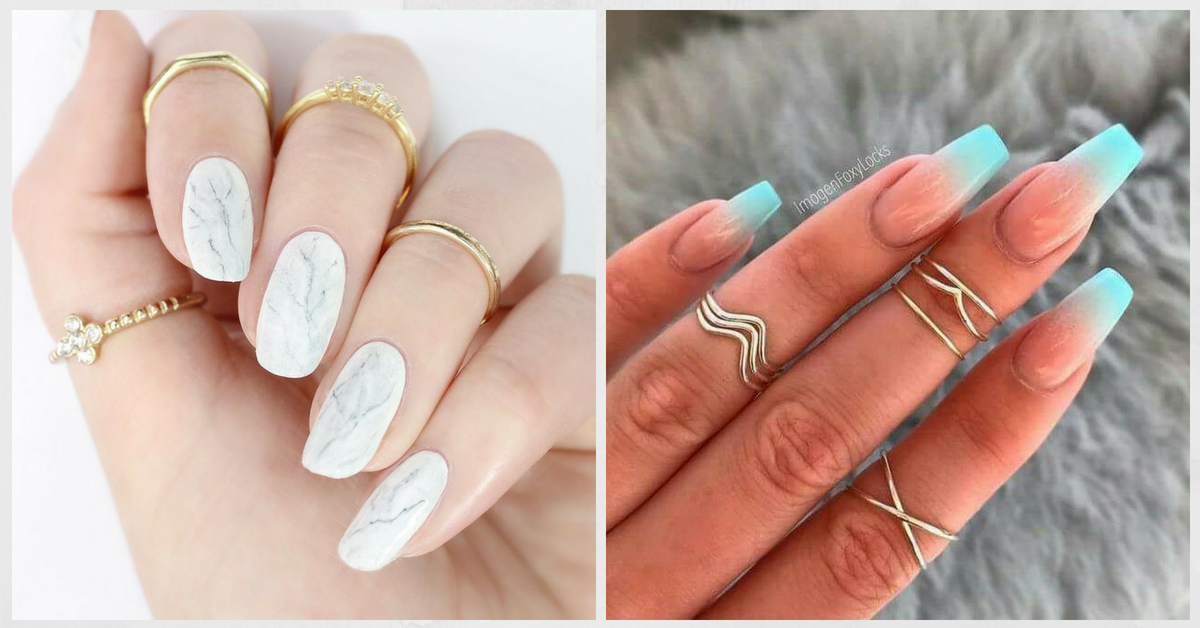 #NOTD: Help Me Pick My Next Manicure! Marble Or Sunset Ombre Nails?