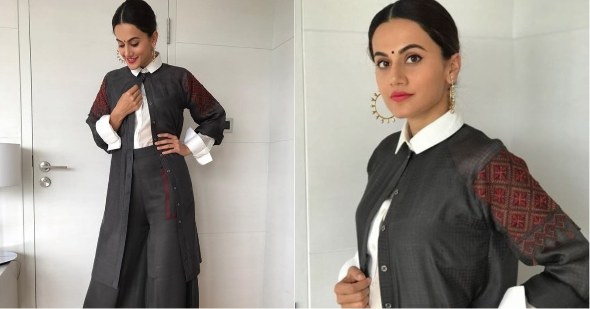Taapsee Wore A Gorgeous Fusion Outfit & We Decided To Recreate It For You!
