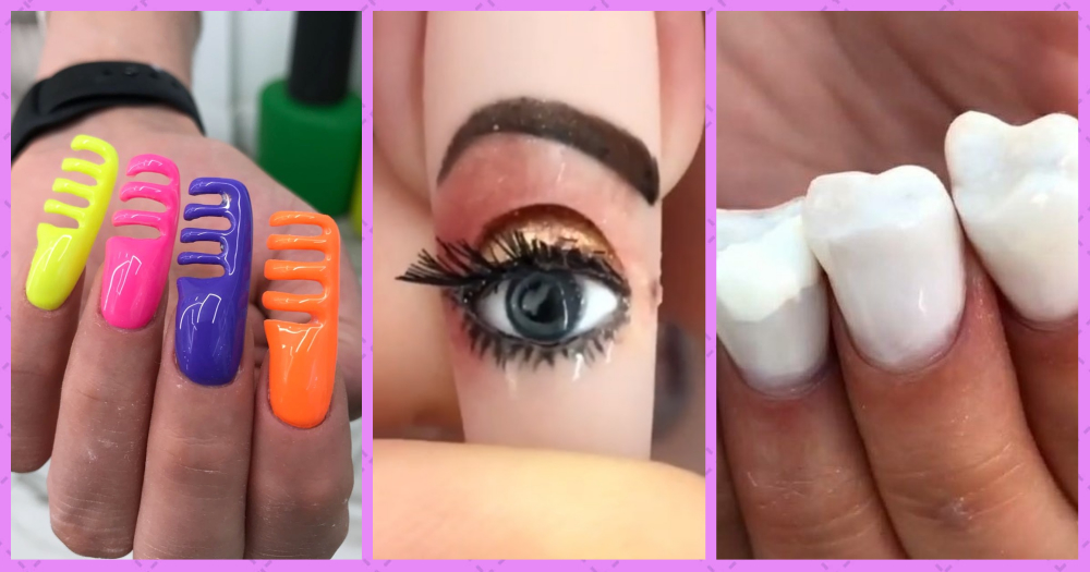 Nailed It? You Decide. Here Are The Weirdest Nail Art Trends We've Seen This Year