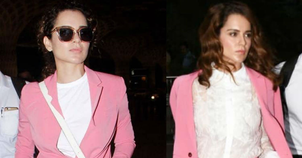 Kangana Wearing One Pantsuit Twice In A Day Proves *Not All Superheroes Wear Capes*!