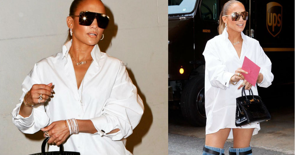 How J.Lo Can You Go? Jennifer Lopez's *Jeans* Are Dangerously Low In Her Latest Outfit