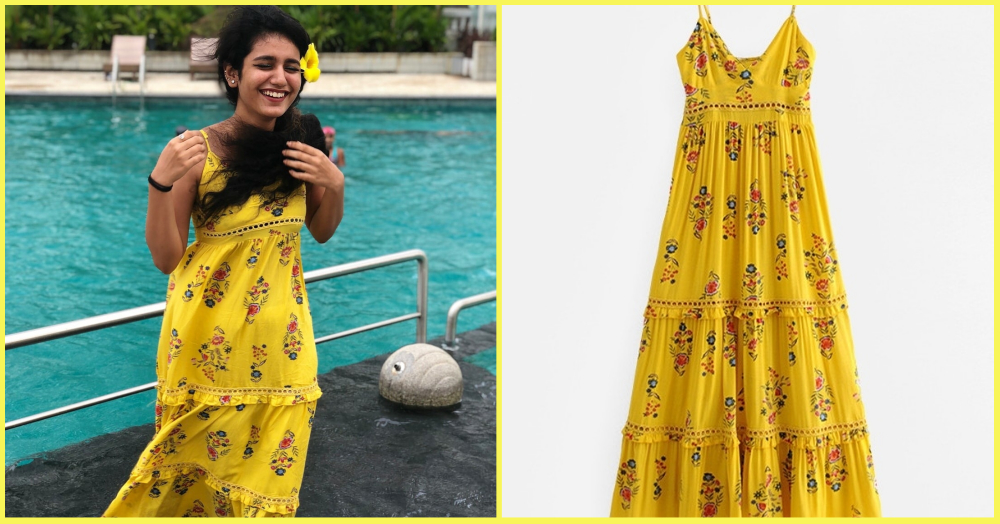 Priya Prakash Varrier's Yellow Dress Is A Summer Must-Have & We Found The Exact Same For You!