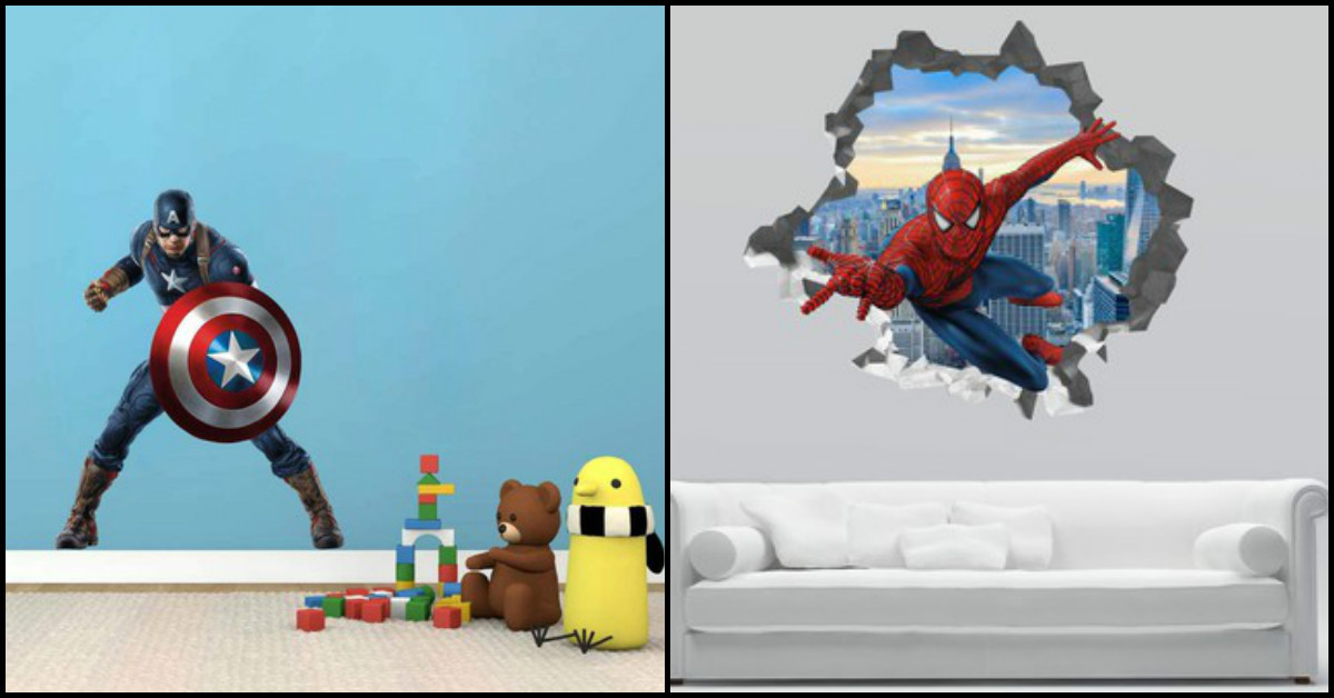 With Great Superheroes, Come Cool Wallpaper: Wall Decals For The Superfan In You!