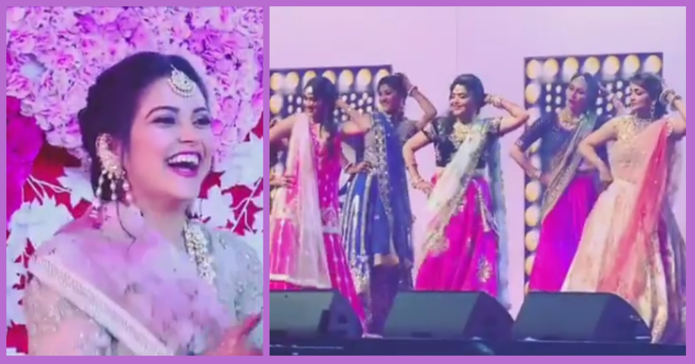 This Bride Got A Beautiful Surprise From Her Bhabhis & Behnas On Her Sangeet Night!