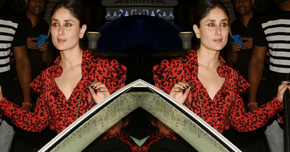 Bebo Gone Wild! Kareena Does Girls' Night Out In A Red Leopard Print Top
