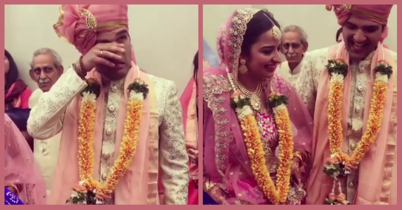 This Groom Cried When 'Din Shagna Da' Played For His Bride's Entry & All Of Us Went Awww