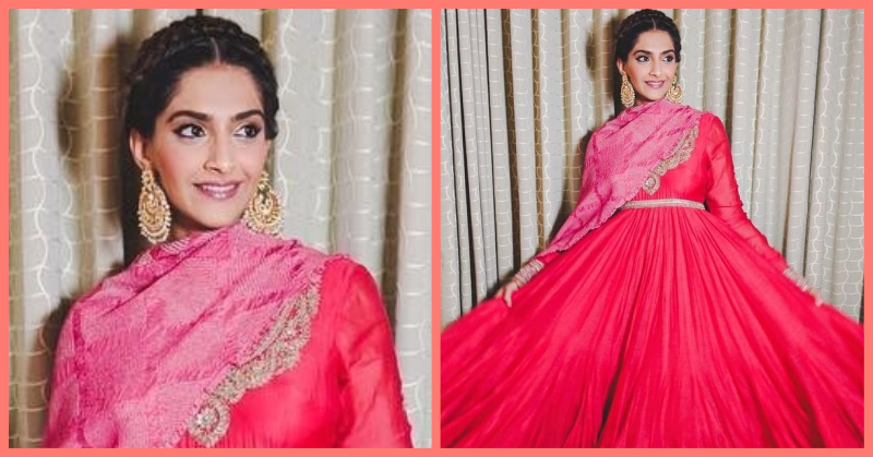 Sonam Kapoor Nails Wedding Fashion Yet Again In This Beautiful Pink Anarkali!