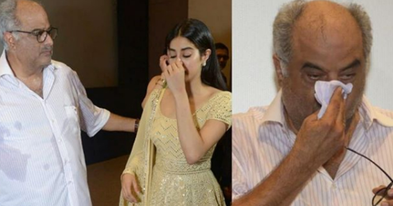 Boney & Janhvi Kapoor Left Teary-Eyed After A Special Screening Of Mr. India On Sridevi's Birthday