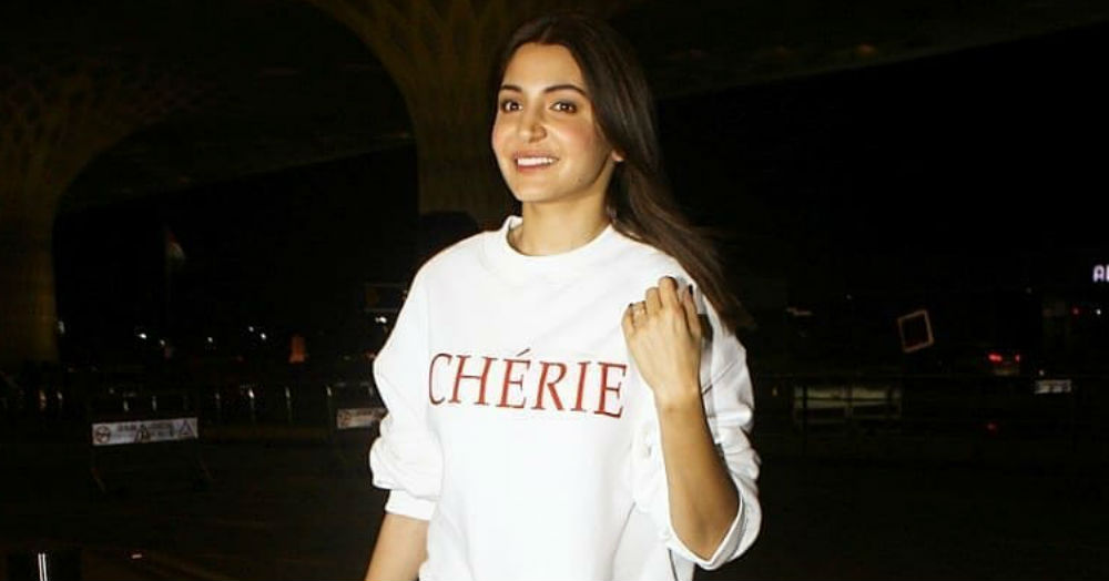 Anushka Sharma's Frayed Yellow Skirt Is The *Chérie* On Top Of Her Airport OOTD