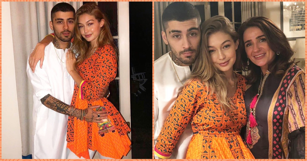 Gigi Hadid & Zayn Malik's Eid Outfits Are Giving Us Major Dandiya Night Goals