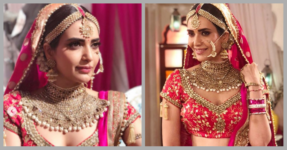 The First Pictures Of Karishma Tanna Dressed As A Bride On 'Qayamat Ki Raat' Are Out!