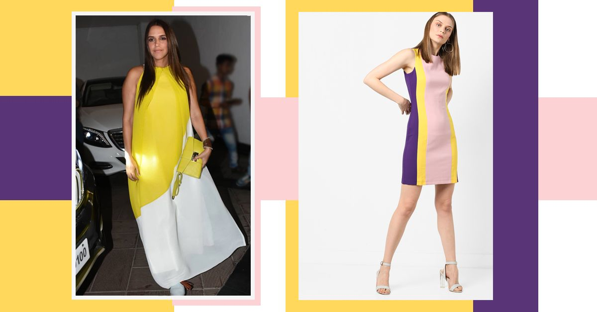 Try Your Hand At Colour Blocking With These Celeb-Approved Summer Dresses