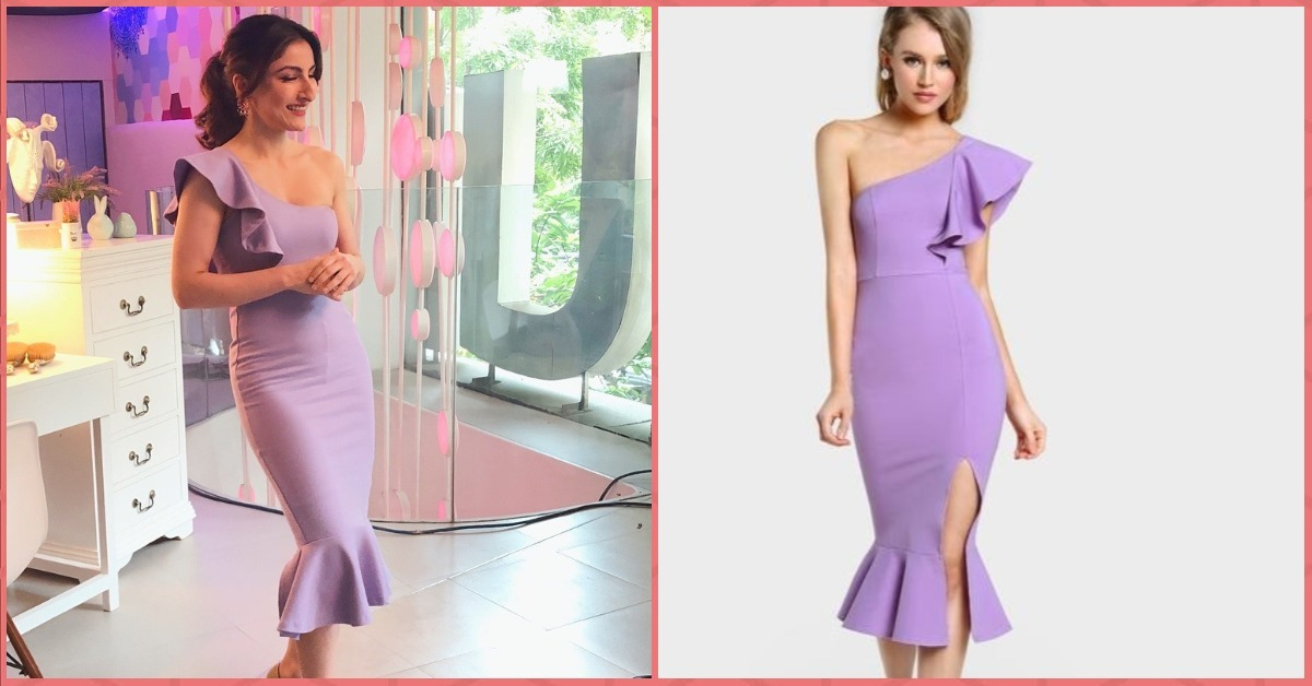 Drop Everything You're Doing! Soha Ali Khan's Pretty Lilac Dress Costs Only Rs 1,799