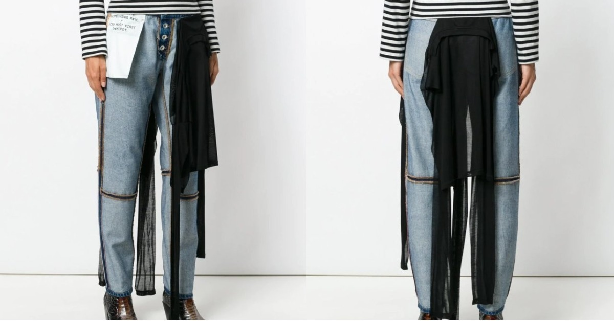 This Brand Is Making Jeans *Inside Out*, And We Don't Know How We Feel About That