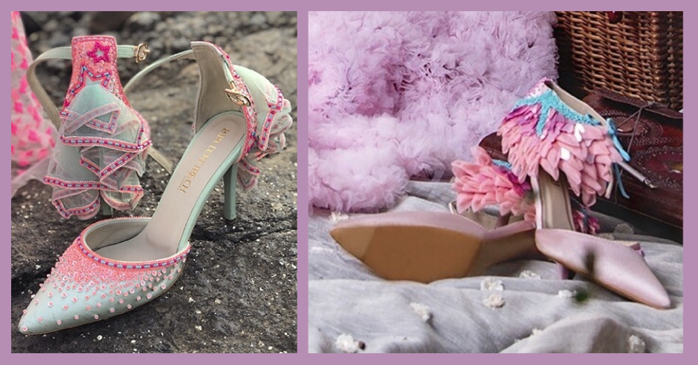 Ever Heard Of Bridal Heels With A Nath & A Veil? We Found Them For You!