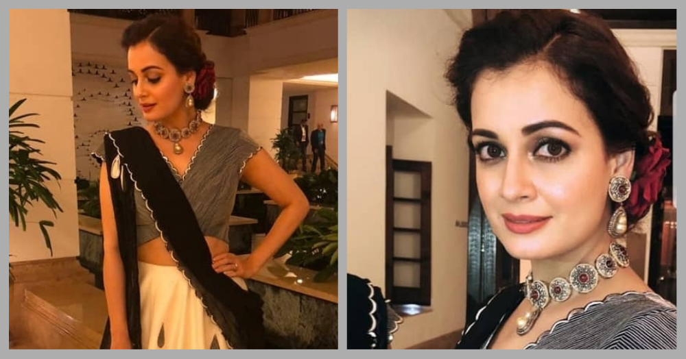 Dia Mirza Showed Us A New Way To Drape The Dupatta & How Did We Never Think Of It Before!