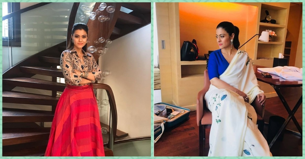 Kajol Finally Ditched Her Button Down + Skirt Look For A Saree & We Are So Relieved!